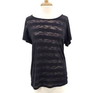 Maurices Womens Short Sleeve Semi-Sheer Top Size 0